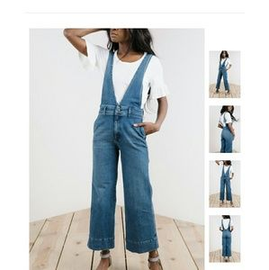 Denim - Free People A-Line Overalls
